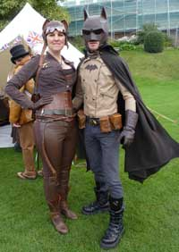 Steampunmk Catwoman and Batman