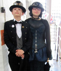 Steampunk teens at the Asylum