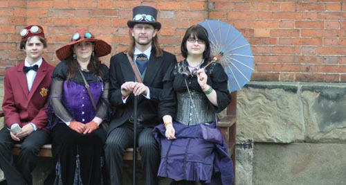 Photographing steampunks at the Asylum - The Morgan Family