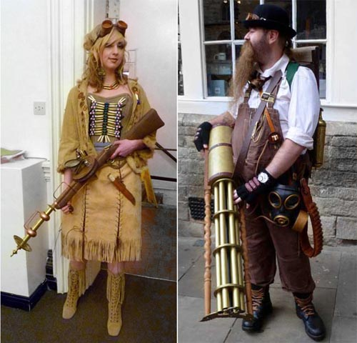 Examples of amazing steampunk weapons