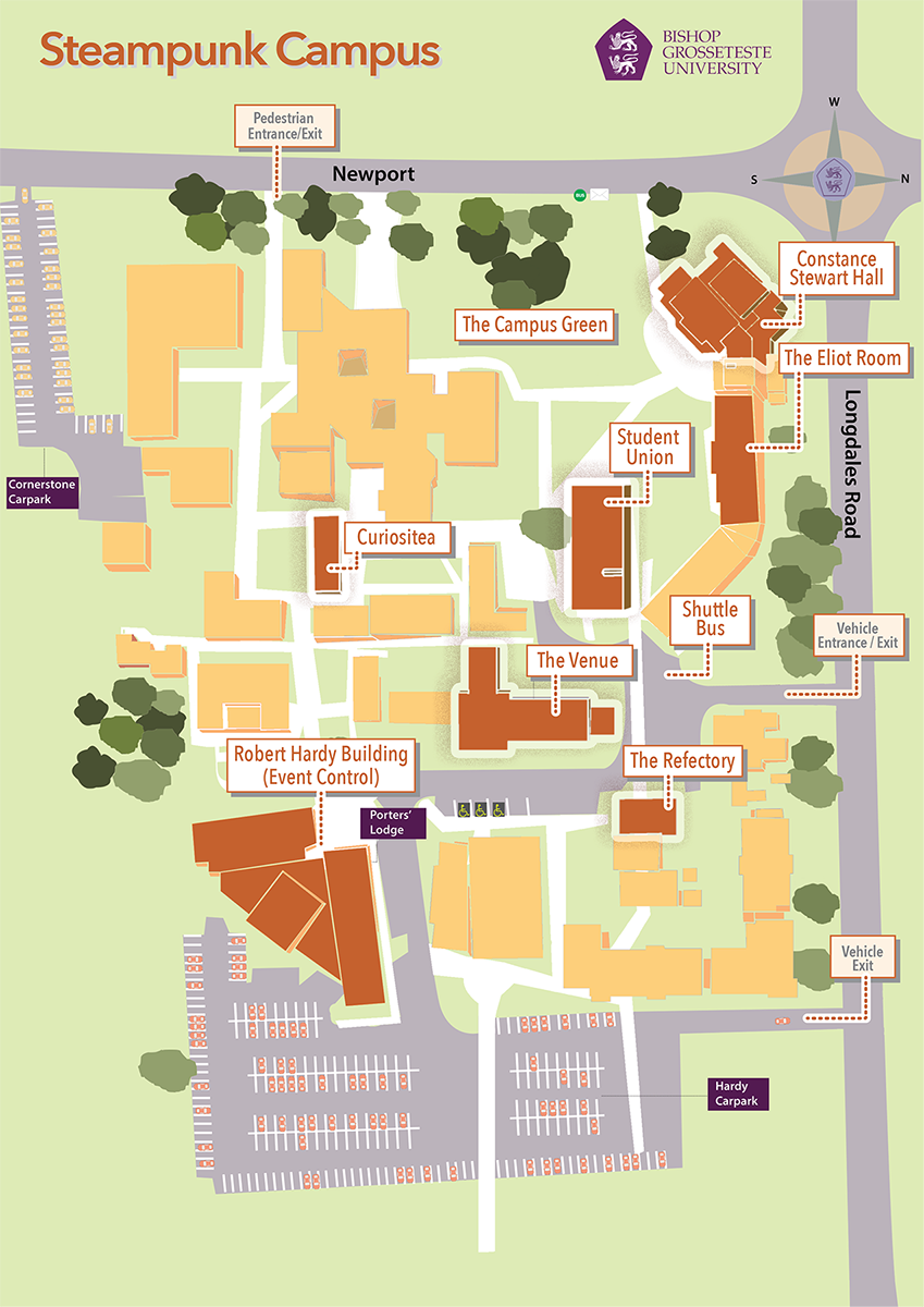Steampunk Campus Map
